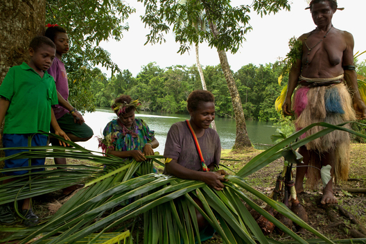 Palm Leave Basket Making in Papua New Guinea