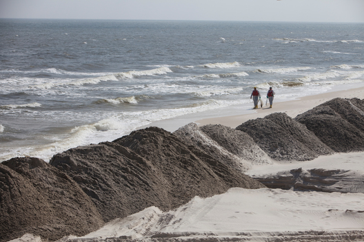 Sand Barriers on Dauphin Island