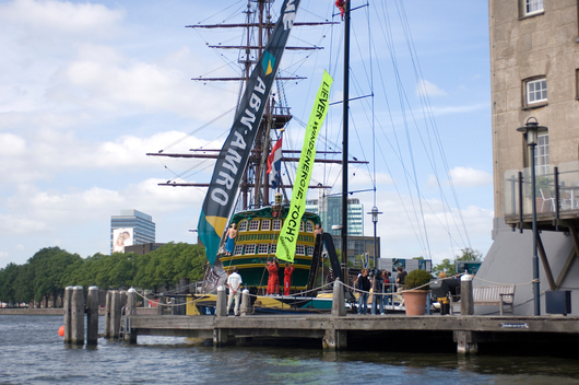 Nuclear Action at ABN AMRO Sailing Ship in Amsterdam