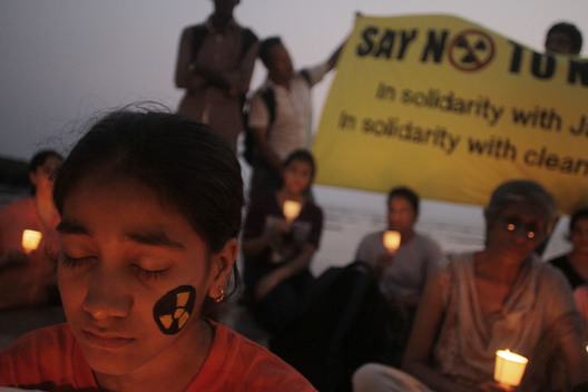 Vigil for Japan Victims in Mumbai