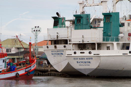Reefers Docked in Samut Sakhon in Thailand