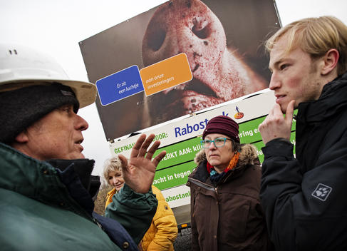 """Rabostank"" Billboard Action in Netherlands"