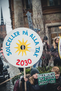 """Fridays for Future"" Climate Demonstration in Stockholm"