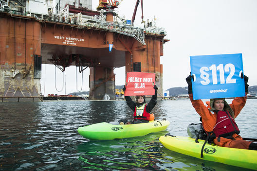 Protest in Norway on Oil Rig Bound for Arctic Drilling