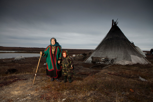 Indigenous Nenet People in Yamal Peninsula