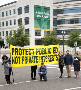 Unkoch Protest at George Mason University in the US