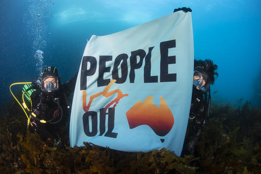 Divers Protest Oil Drilling along the Great Australian Bight
