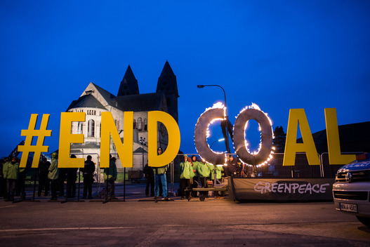 End Coal Protest at Church in Immerath