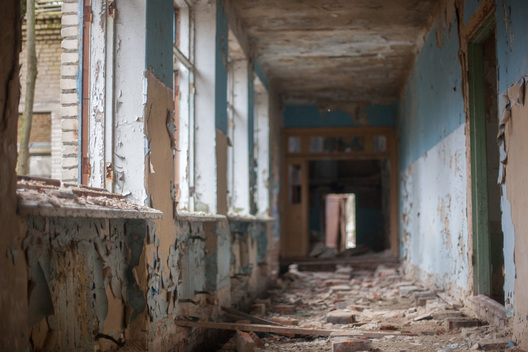 Abandoned Building inside the Exclusion Zone in Belarus