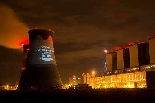 COP19 Projection on Coal Power Station Opole