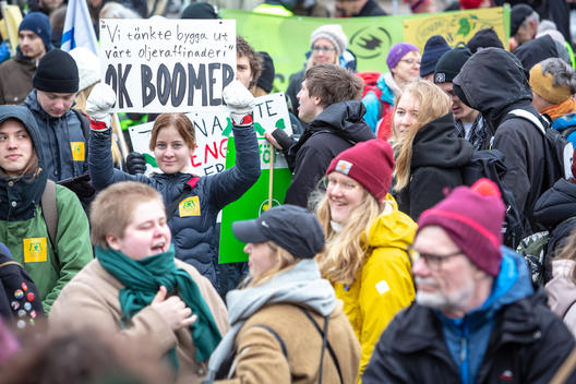 Preem Oil Refinery Expansion Demonstration in Lysekil