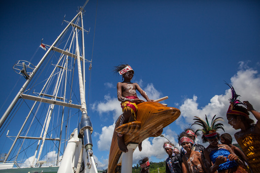 Rainbow Warrior in Raja Ampat