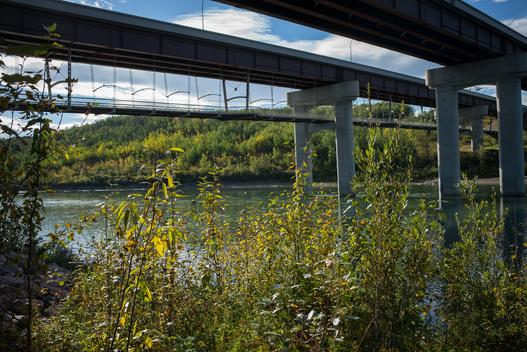 North Saskatchewan River and Highway Crossing
