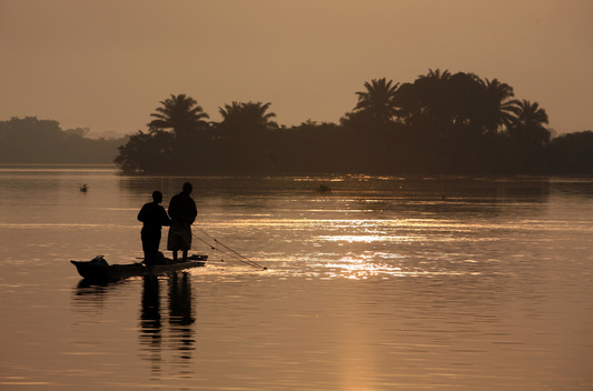 Fishermen in Early Morning in Congo