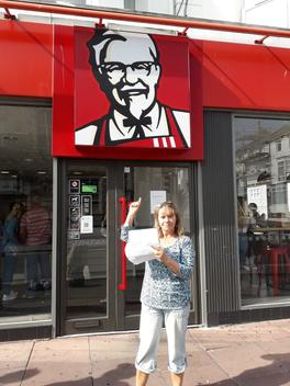 Local Groups Deliver Letter at Fast Food Outlets in Eastbourne