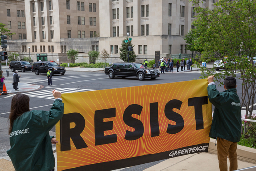 Trump Resistance at Interior Department in Washington D.C.