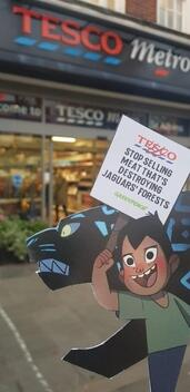 Volunteers Bring Jaguars to Visit Tesco in St Albans