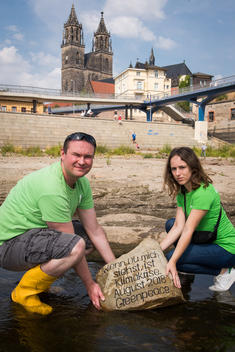 Demonstration for Climate Protection of the Elbe River's Bed in Germany