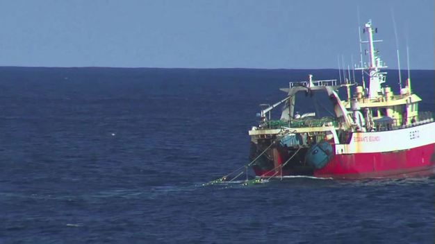 Spanish Bottom Trawler in North Atlantic