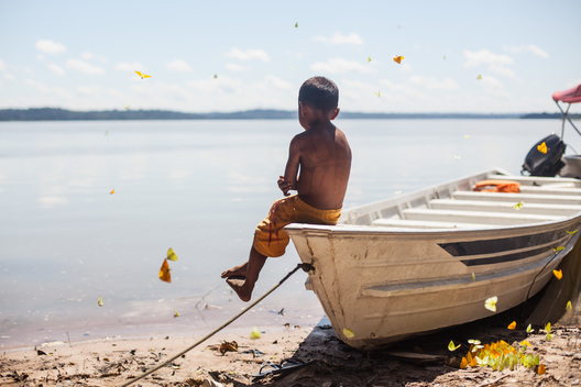 Munduruku Children Playing at Sawré Muybu Indigenous Land