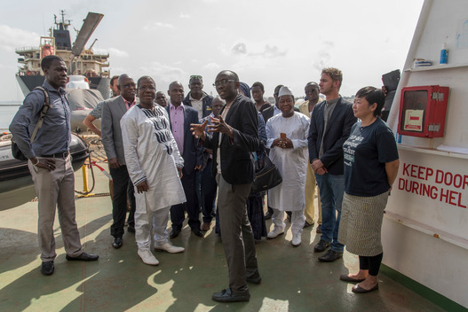 Guinean Fishery Minister Andre Loua Visits the Esperanza in Conakry