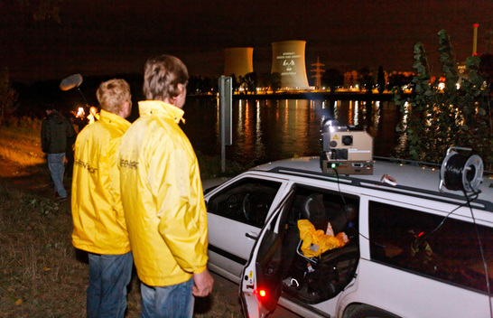Projection on Biblis Nuclear Power Plant