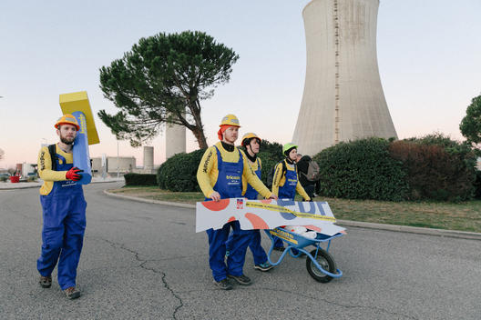 Activists Break into EDF's Tricastin Nuclear Power Plant in France (Entrance)