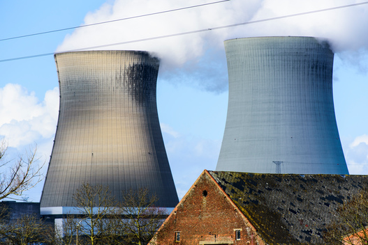 Doel Nuclear Power Plant in Belgium