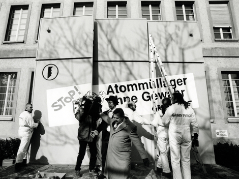 Nuclear Action against Nuclear Power Plant Würenlingen in Baden Switzerland