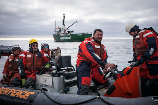 Arctic Sunrise Crew in Baffin Bay