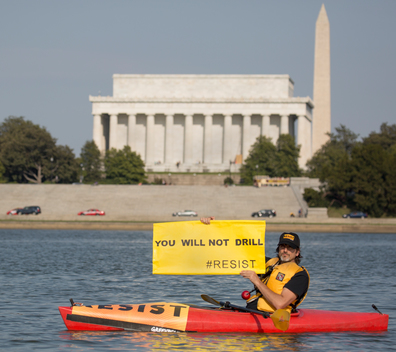 You Will Not Drill - Resist Drilling Message in Washington D.C.