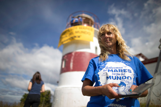 Lighthouse Action in Punta Arenas for the Protection of Patagonian Sea