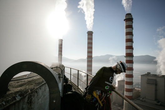Action at Agios Dimitrios Power Station in Greece