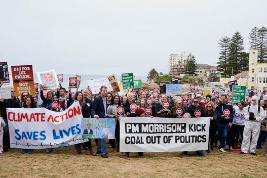 Kick Coal out of Politics Rally in Cronulla