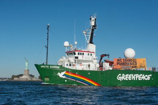 Arctic Sunrise Departs New York City