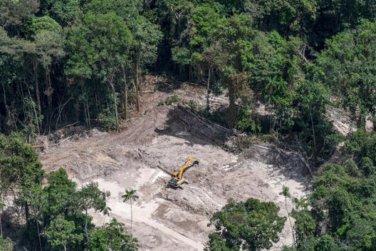 Mining in the Sai Cinza Indigenous Land in Brazil