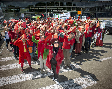 Protest against Growth of Aviation in Eelde
