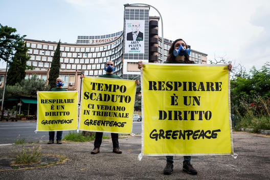 Clean Air Action at the Lazio Regional Government in Rome