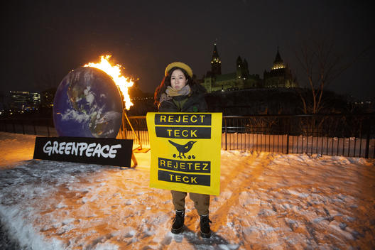Burning Call to Reject Teck Mine in Ottawa, Canada