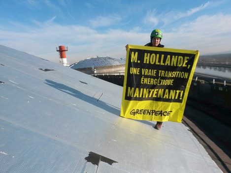 Protest at Nuclear Power Station Fessenheim