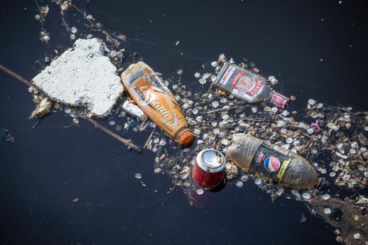 Plastic Waste in the Sea Edinburgh Scotland