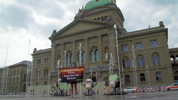 Action against the Swiss Financial Sector Regulators for Climate Inaction - Video grab