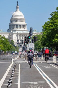 Cycling with COVID-19 in Washington D.C.
