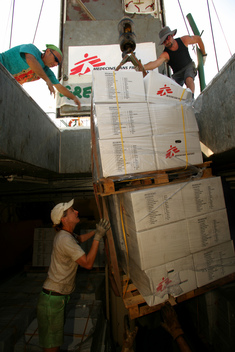 Loading of Third Shipment - Greenpeace delivers supplies for MSF - 2006