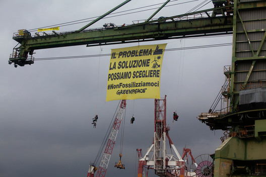 Action at Eugenio Montale Coal Power Plant in Italy