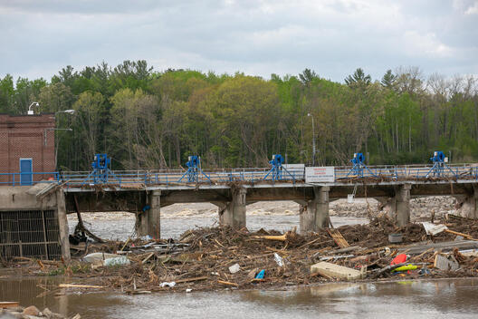 Debris at Failed Sanford Dam in Michigan