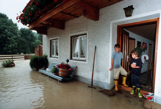 Flooding in Traunstein Germany