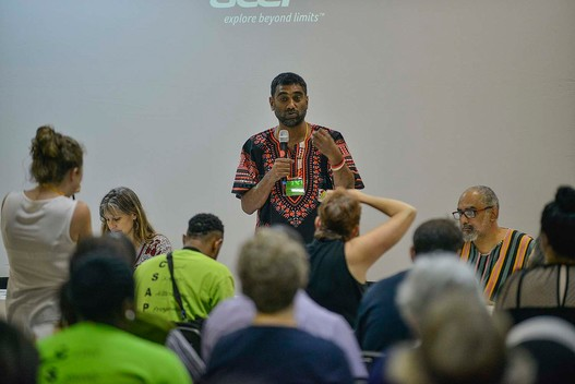 Kumi Naidoo at World Forestry Congress in Durban