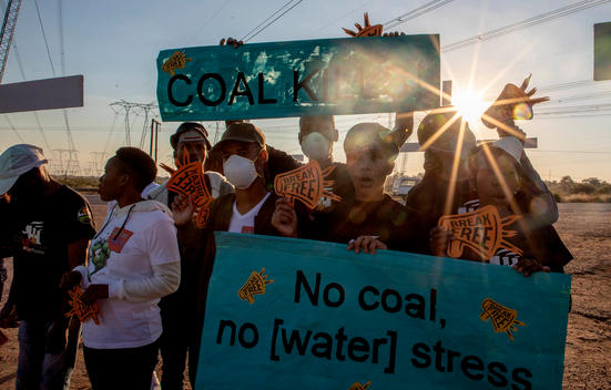 Break Free from Coal & Protect Water Action in South Africa