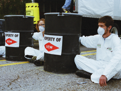 Blockade Action at Dow Headquarters in Texas